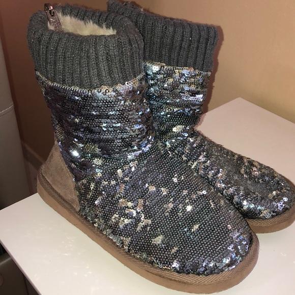 PINK Victoria's Secret Shoes - PINK Victoria's Secret Sparkly Ugg Style Boot